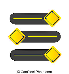 Road  signal - driving signal in different directions
