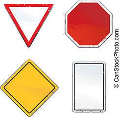 Road Signs - A variety of road signs.