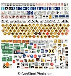 Road Signs and Symbols set