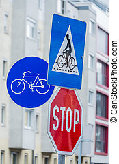 road signs for cyclists