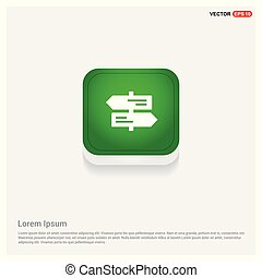 Road Signs Icon Green Web Button