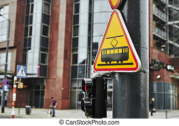 road signs in the city