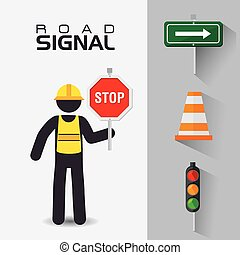 Road signs.