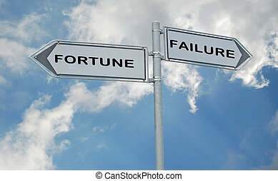 Road signs to fortune and failure