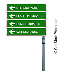 Road signs to life, health,home,car insurance