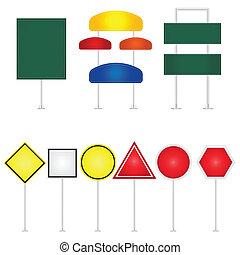 Road-Signs-Vector-Illustration