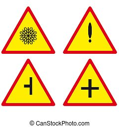 road signs. Vector illustration on white background.