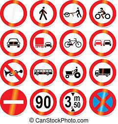 road signs (vector) - Traffic, road signs - vector format