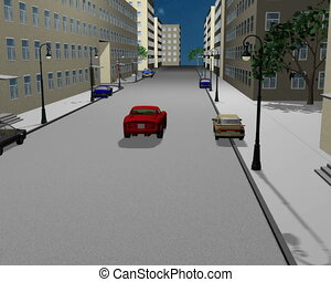 Road situation 3D
