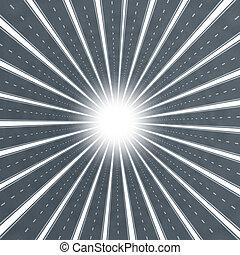 Road Star Burst - Road star burst design element as a...