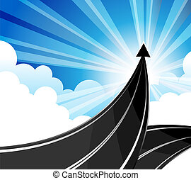 Road success. - The goal is to travel the path to a...