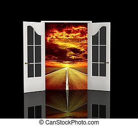Road - The door open in the real world