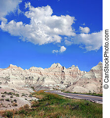 Road Through Badlands National Park