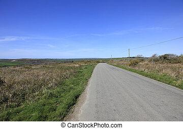 Road Through Bodmin Moor Cornwall