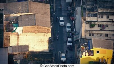 Road Through Poor Area Of City