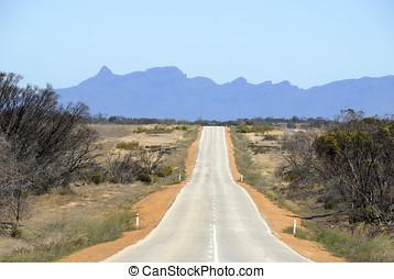 Road through the desert