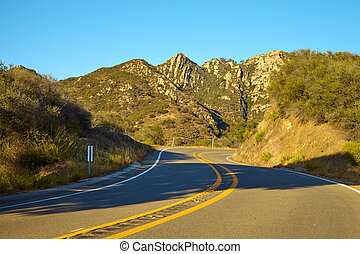 Road through the hills in Malibu