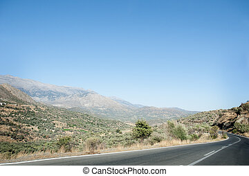 Road through the hills of Crete