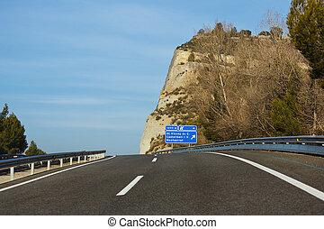 Road through the Pyrenees - Road to Montserrat Monastery ...