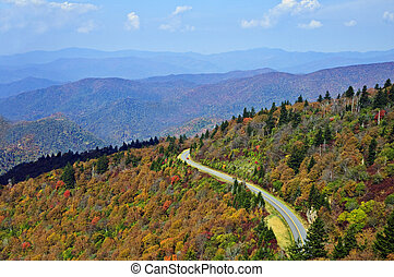 Road Through the Smoky Mountains in