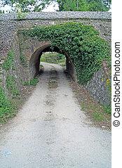 road through tunnel