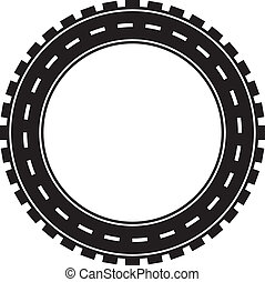 Road tire image. Concept of transportation and travel.