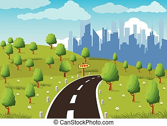 Road to a city