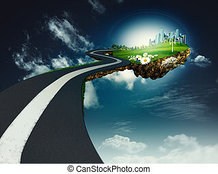 Road to another world, abstract environmental backgrounds