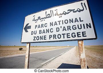 Road to Banc d'Arguin National Wildlife Park