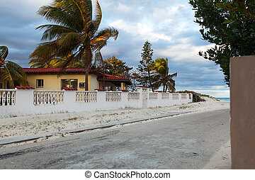 road to beach and house