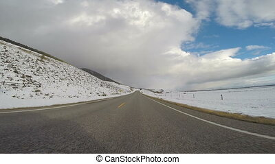 Road to Earthquake Lake Southwest Montana Winter Storm...