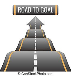 Road to goal abstract way to success, achievement new...