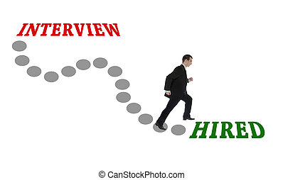 Road to Hired for man in suit