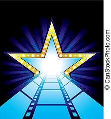 Fame star at the end of film road