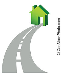 road to home illustration design