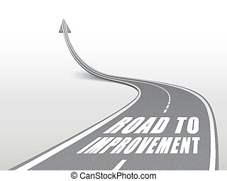 road to improvement words on highway road