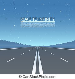 Road to infinity, Road vector highway.