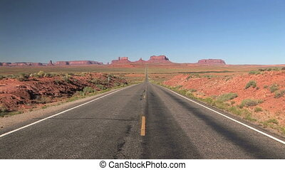 Road to Monument Valley - Highway 163 to Monument Valley...