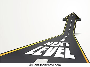 road to Next Level - detailed illustration of a highway road...
