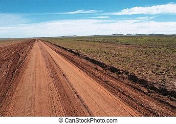 Road to nowhere - Desert road to nowhere, near Cameron...