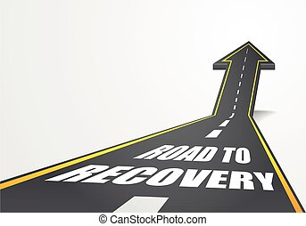 Road To Recovery - detailed illustration of a highway road...