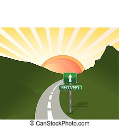 road to recovery vector file