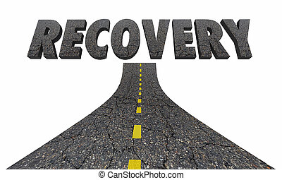 Road to Recovery Getting Better Improvement 3d Illustration