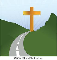 road to religion concept illustration design landscape