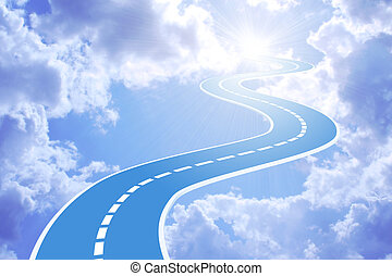 Road to sky - Conceptual image - road to sky
