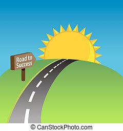 Vector Clipart of road to success sign illustration design ...
