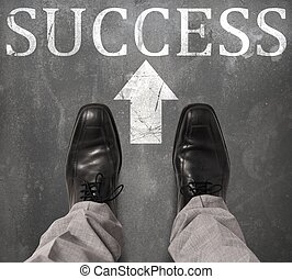 Road to success - Businessman find and take the success road