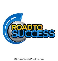 Road to success icon stock-vector.