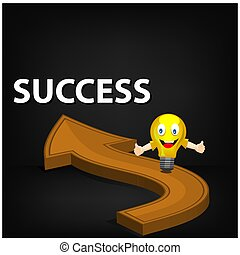 Road to success. stock illustration Vector. illustration on black gradient background.