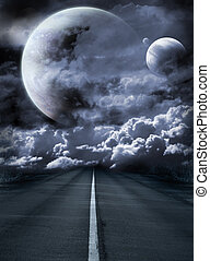 Road to surreal galaxy - Dark series - road to surreal...